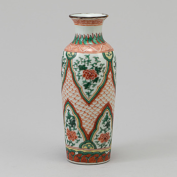 VAS, rouleau, porslin, Kina, Qingdynastin (1644-1912).