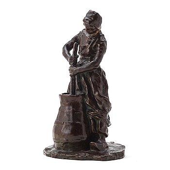 156. Carl Milles, Study of a Dutch gwoman.