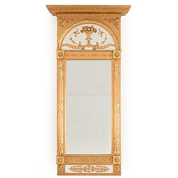 EMPIRE, A mid 19th century late Empire mirror.