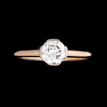 RING, briljantslipad diamant, 18K guld. A. Tillander, Helsingfors.