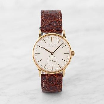 16. PATEK PHILIPPE, Genève, Calatrava, wristwatch, 33,5 mm,