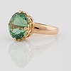 Sigurd persson, a 8.19 ct green tourmaline ring. made in, stockholm 1945.