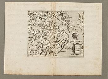 "KARTA, ""Sveciae Regnum"", Giovanni Botero, ca 1596/97."
