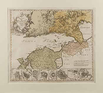 """KARTA, """"Regiones ad Sinum Finnicum"""", Holmiae 1742."""