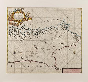 KARTA, Oost Zee, Johannes van Keulen, 1700-talets början.