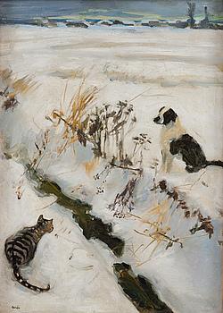 AKSELI GALLEN-KALLELA, CAT AND DOG.