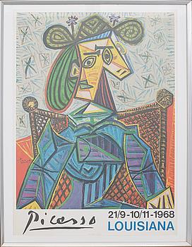 PABLO PICASSO, PABLO PICASSO, exhibition poster, 1968.