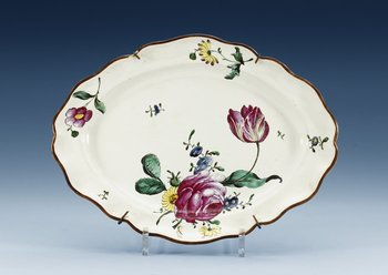 1208. A German faience charger, 18th Century.