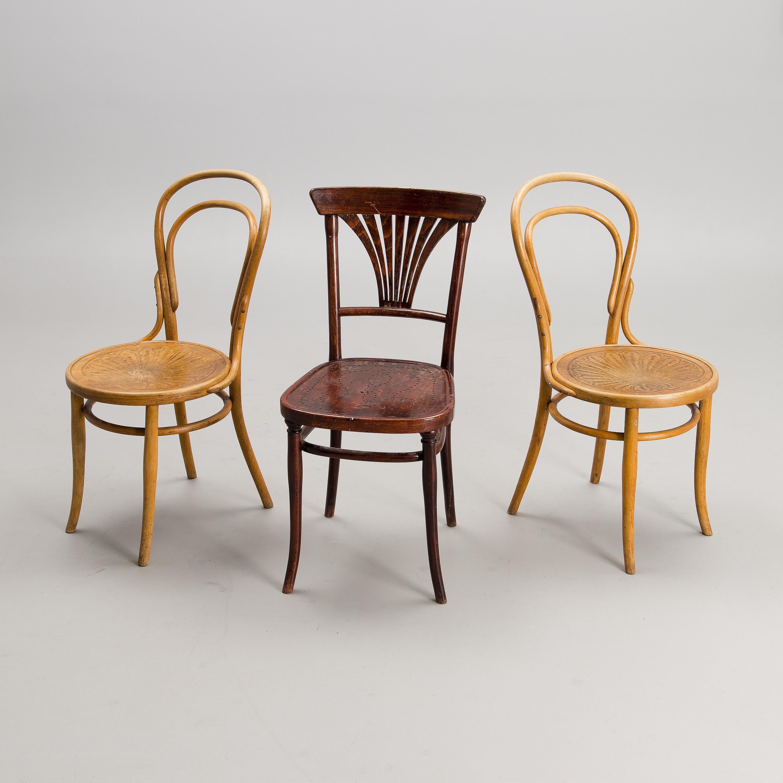 A Set Of 2+1 Chairs By Jacob U0026 Josef Kohn, Vienna And Thonet, Vienna Turn  Of The 20th Century.   Bukowskis