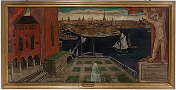 EINAR FORSETH, olja på duk, signerad Einar Forseth och daterad 1924.
