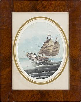 OKÄND KONSTNÄR, blandteknik, Kina, 1800-tal.