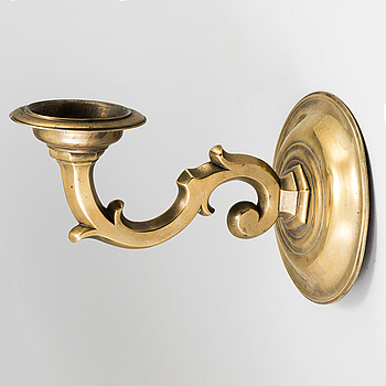BAROCK, A bronze baroque wall sconce 17/18th century.