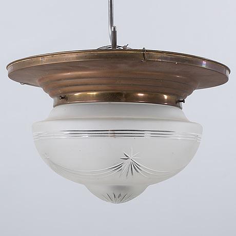 Taklampa taklampa plafond : TAKLAMPA/PLAFOND, jugend, tidigt 1900-tal. - Bukowskis