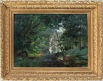 WILHELM BEHM, olja på duk. Signerad och daterad 1884.