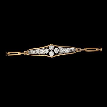 ARMBAND, briljantslipade diamanter, 18K guld, helsingfors 1966.