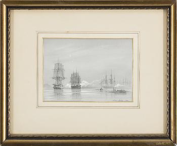 ANTON MELBYE, blyerts ocg täckvitt, signerad och daterad 1848.
