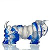 "Juan garcia ripolles, skulptur av glas, tjur, ""el toro en azul"", berengo studio, murano, italien."