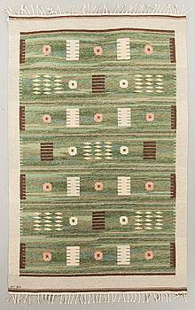CARL DANGEL, matta, rölakan, signerad CD, 234 x 150 cm, Sverige omkring 1900-talets mitt.