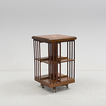 An English style swivel book case.
