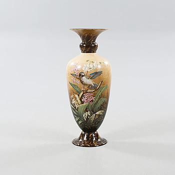 ANTON JOSEF VOGEL, golvvas, keramik, signerad A Vogel, Rörstrand, daterad 1885.