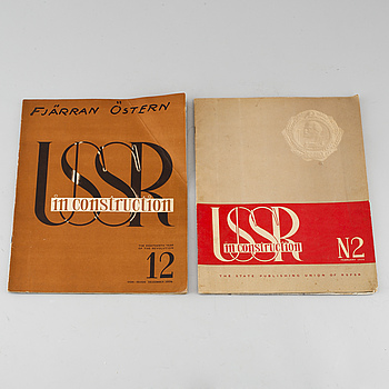 "TIDSKRIFTER, 2 st, ""USSR in construction"", Sovjetunionen, 1934."
