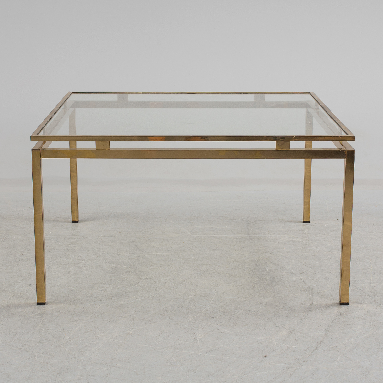 soffbord m ssing och glas 1970 tal bukowskis. Black Bedroom Furniture Sets. Home Design Ideas