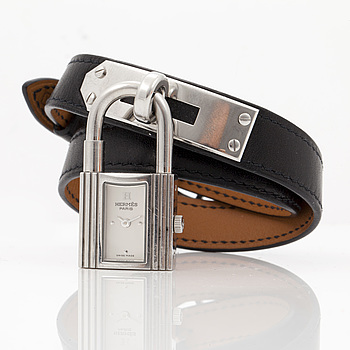 "HERMÈS, ""Kelly Lock"", armbandsur, 20 x 20 mm,"