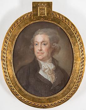 JONAS FORSLUND, pastell, signerad och daterad 1791.