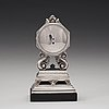 Johan rohde, a johan rohde sterling silver mantel clock by georg jensen, copenhagen 1925-33, model 333.