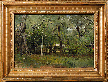 ALFRED WAHLBERG, ALFRED WAHLBERG, oil on canvas, signed Beaulieu -77.