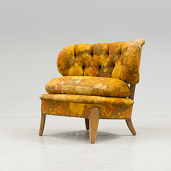 """A mid 20th century """"Schulz"""" easy chair by Otto Schulz."""