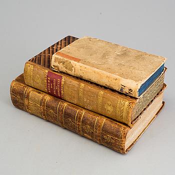 BÖCKER, 3 st, geografi och krigshistoria, Frankrike, 1693-1824.
