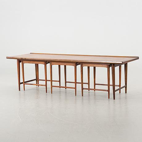 Soffbord soffbord satsbord : Auktionstipset - SOFFBORD/SATSBORD 4 delar, troligen Danmark, 1960 ...