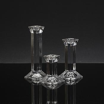 LJUSSTAKAR, glas, 6 st, Villeroy & Boch, 1900-talets slut.