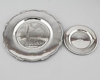 FAT, 2 st, silver, GAB, Stockholm, Sverige, 1937 respektive 1941, vikt 435 gram.