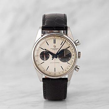 "81. UNIVERSAL GENEVE, Uni-Compax, ""Big Eye"", kronograf, armbandsur, 36,5 mm,"