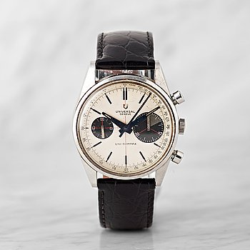 "41. UNIVERSAL GENEVE, Uni-Compax, ""Big Eye"", chronograph, wristwatch, 36.5 mm,"