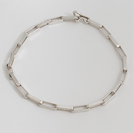 A silver necklace by karl ingmar johansson, göteborg, 1977
