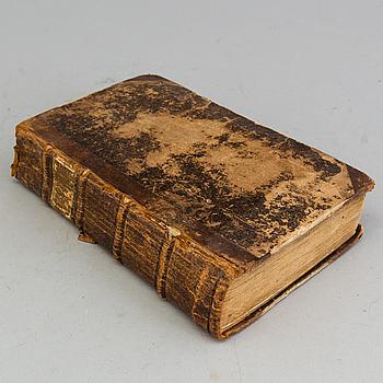 """BOK, """"Acta publica, hörande til Sweriges rikes fundamental-lag"""", tryckt hos direct. Pet. Momma 1755."""