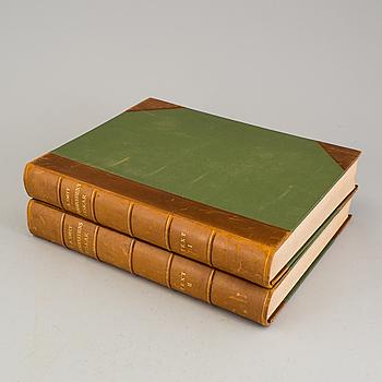 """BOK, 2 vol. F.A. Smitt, """"Skandinaviens Fiskar"""", Stockholm, andra upplagan, 1892-95."""