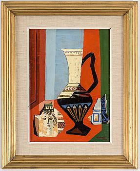 ESAIAS THORÉN, olja på pannå. Signerad och daterad 1948.