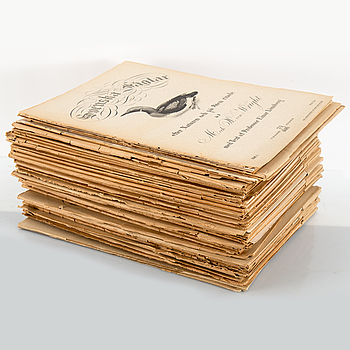 LITOGRAFISKA TRYCK, ca 30 mappar. Magnus och Wilhelm von Wright, 1918-1926.