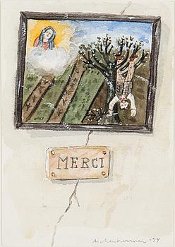 LENNART ASCHENBRENNER, akvarell, signerad Aschenbrenner och daterad -94 med blyerts.