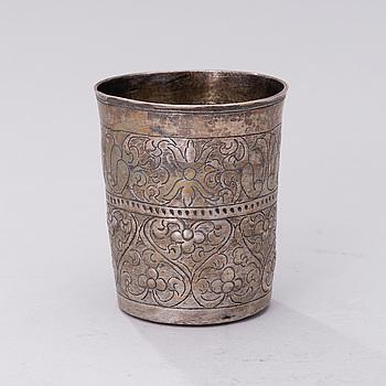 BÄGARE, silver, Kuzma Grigoriev (1741-1749), Moskva. Vikt ca 71 g.