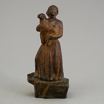 AXEL WALLENBERG, skulptur av brons. Signerad.