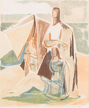 TUULIKKI PIETILÄ, färglitografi, signerad, numrerad 6/22 Epreuve d'artiste och daterad 1955.