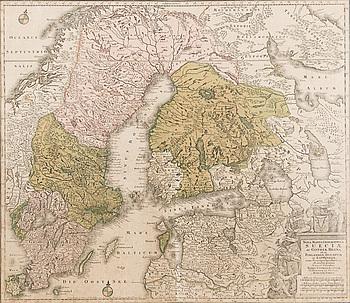 KARTA, Sueciae, Tobiae Conradi Lotter.