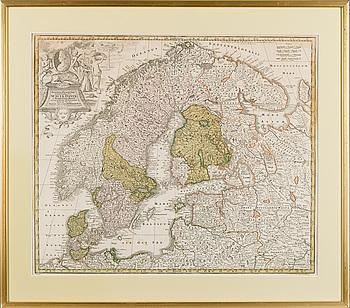 KARTA. Sueciae Danine et Norwegiae Regn. Matth. Seütteri.