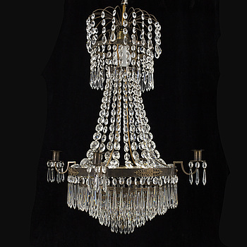 LJUSKRONA, gustaviansk stil, 1900-talets  mitt. Höjd ca 71 cm.