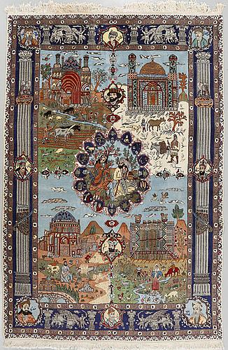 A täbriz rug, old/semiantique, 252 x 180 cm.